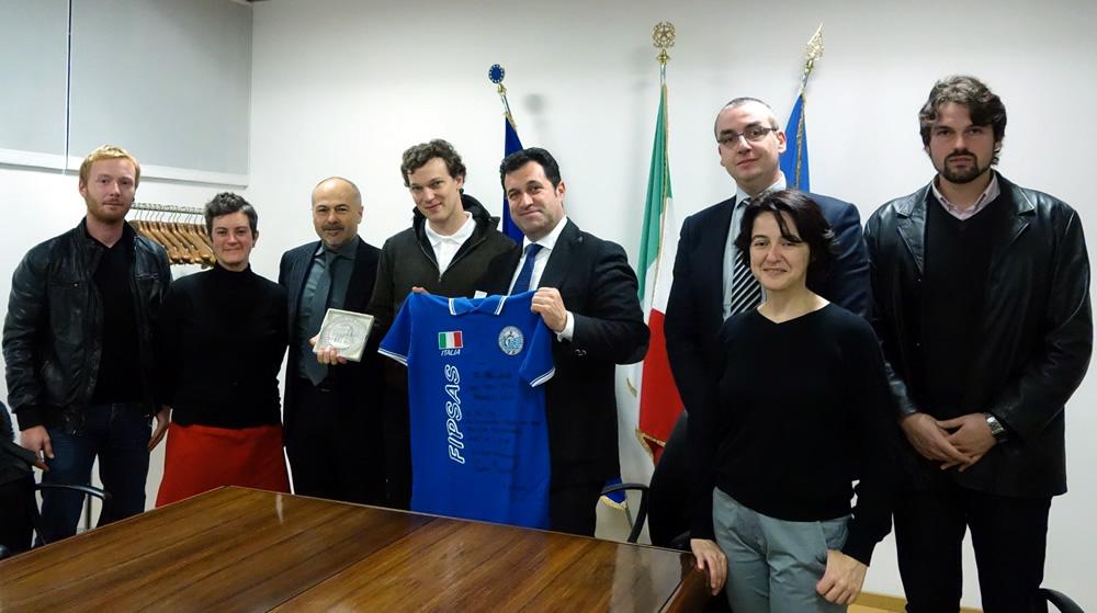 Pres. Iacop con Massimiliano Vidoni, record italiano apnea dinamica