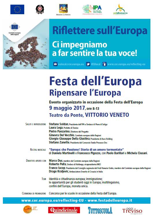 Festa dell'Europa: intervento Iacop a Vittorio Veneto